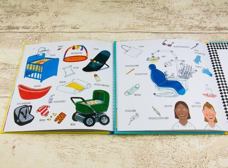 Słowniczki obrazkowe z książek: Pepe idzie do dentysty i Pepe ma rodzeństwo