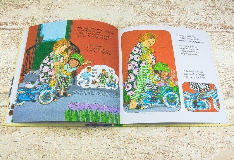Pepe jeździ na rowerze - obrazkowa książeczka dla dzieci